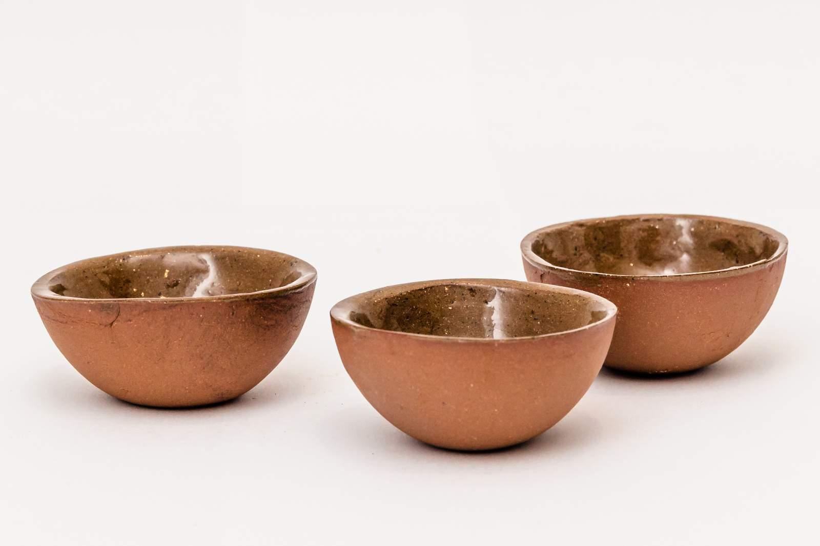 Tapaskommetjes, set van 3, diameter 6 à 6,5 cm